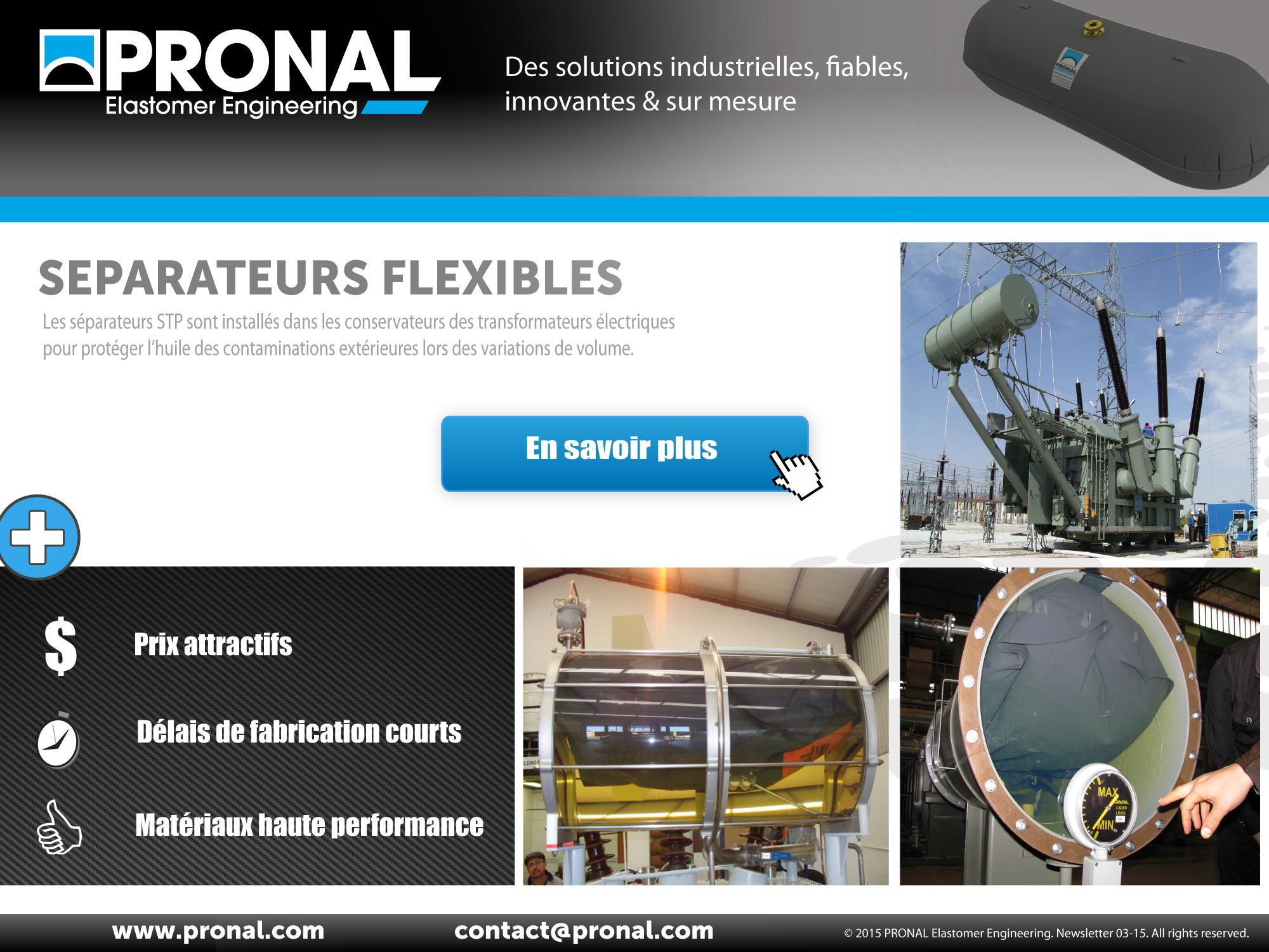 PRONAL : Compensateur pour conservateur de transformateur électrique