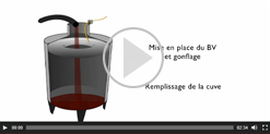 Video of the Pronal inflatable compensators application in the process of wine making