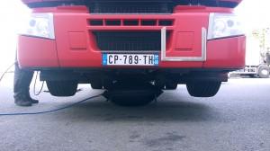 Levage de camion avec un coussin de levage